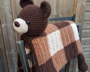 Woodland Bear Blanket Free Crochet Pattern
