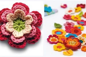 Crochet Flowers Free Pattern
