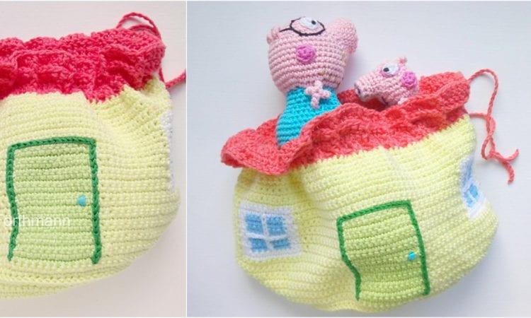 House Bag Free Crochet Pattern