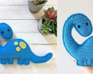 Brian the Brachiosaurus Free Crochet Pattern