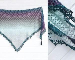 Cotton Flower Shawl Free Crochet Pattern