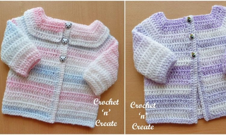Easy Peasy Baby Cardigan Free Crochet Pattern