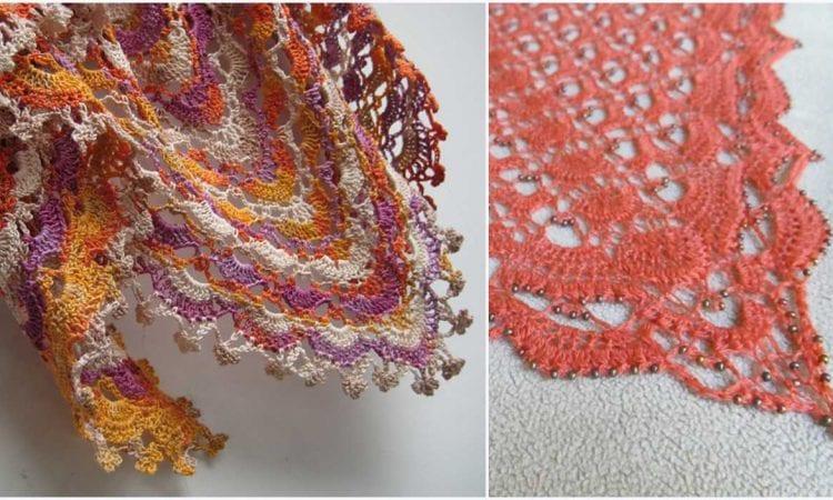 Fritillary Shawl Free Crochet Pattern