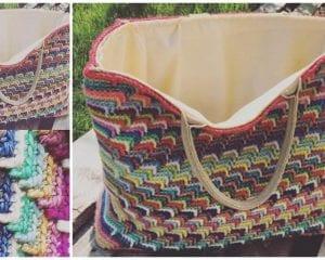 Groovy Shopping Bag Free Crochet Pattern