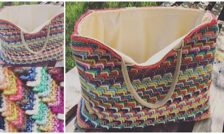 Groovy Shopping Bag Free Crochet Pattern