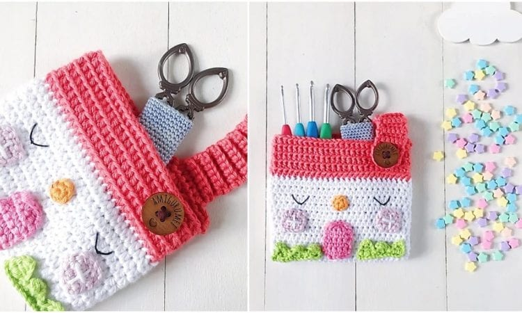 House Pouch Free Crochet Pattern