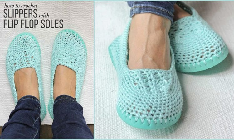Slip On Shoes With Flip Flop Soles Free Crochet Pattern Your Crochet