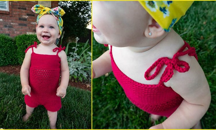 Infant and Toddler Romper Free Crochet Pattern