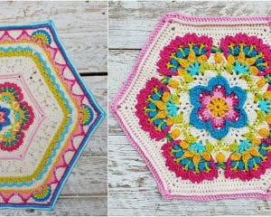 Mary's Memory Afghan Block Free Crochet Pattern