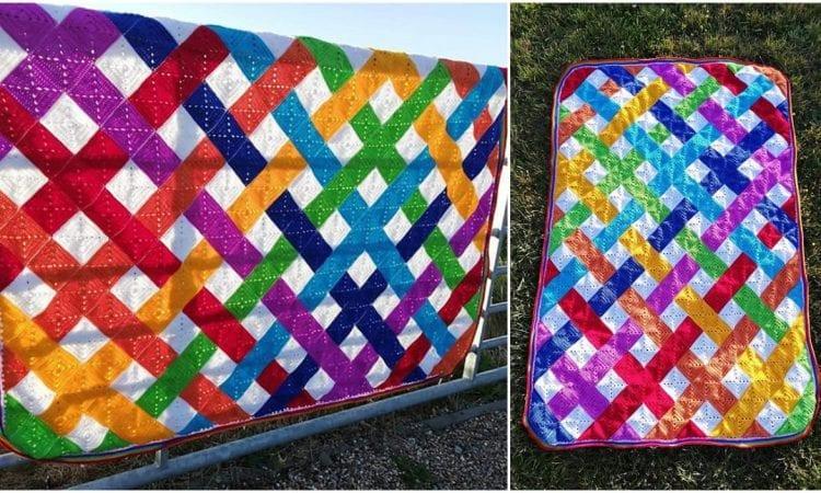 Modern Weave Blanket Free Crochet Pattern