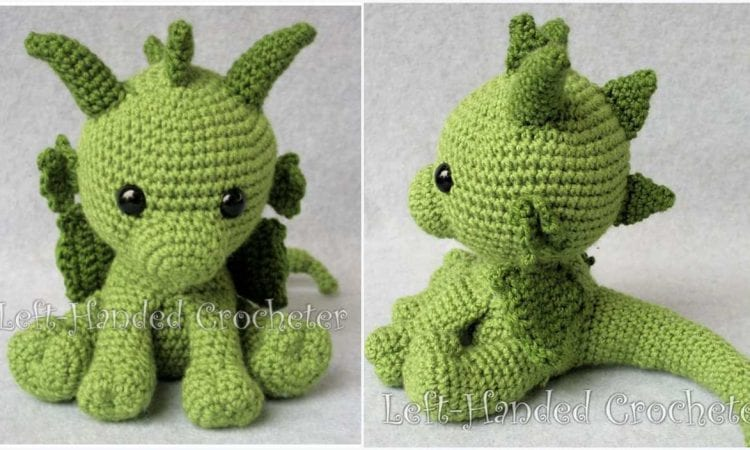 Philp the Dragon Free Crochet Pattern