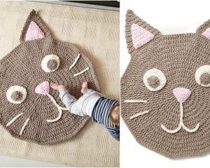 Purrrfect Crochet Rug Free Pattern