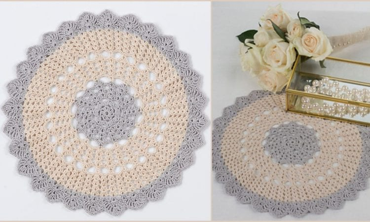 Scalloped Round Doily Free Crochet Pattern