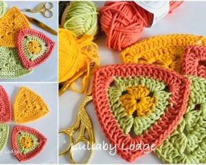 Solid Traingles Free Crochet Pattern