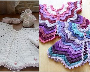 Star-Shaped Baby Vest Free Crochet Pattern