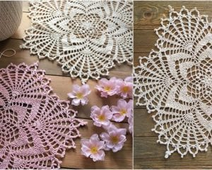 Starlight Reflection Doily Free Crochet Pattern