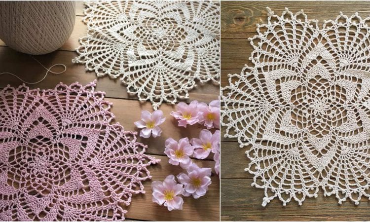 Starlight Reflection Doily Free Crochet Pattern