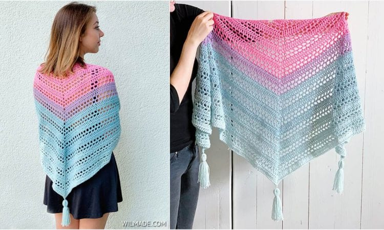 Such Simple Shawl Free Crochet Pattern