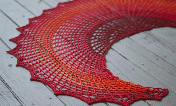 Sunset on Fire Free Shawl Crochet Pattern