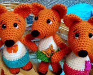 Tiny Fox in Dress Free Crochet Pattern