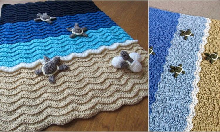 Turtle Beach Blanket Free Crochet Pattern