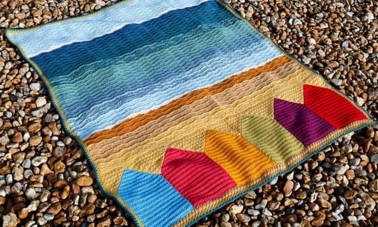 Summer in Swanage Blanket Free Crochet Pattern