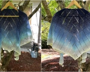 Blueberry Croissant Shawl Free Crochet Pattern