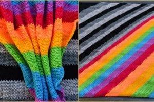 C2C Moss Stitch Blanket Free Crochet Pattern