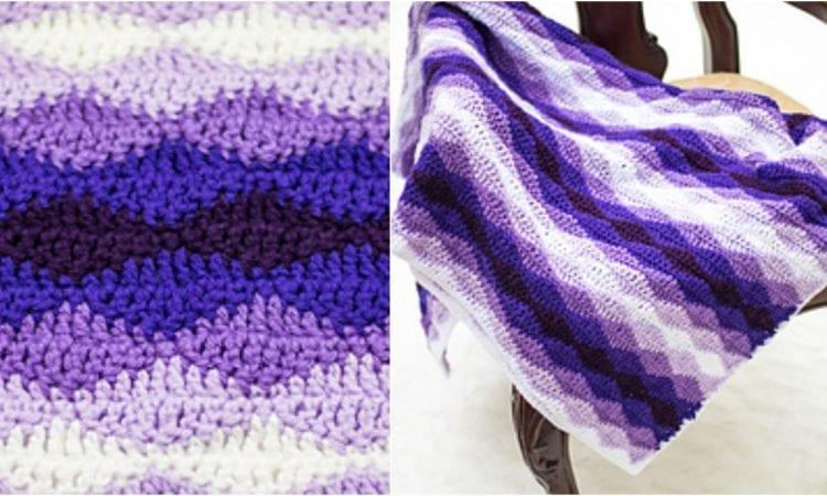Rolling Waves Blanket Free Crochet Pattern