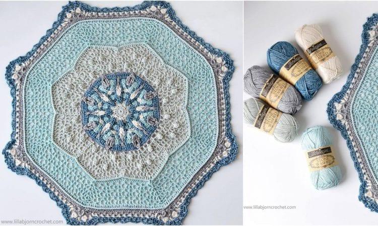 April Shower Mandala Free Crochet Pattern
