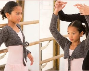 At the Barre Shrug Free Crochet Pattern