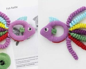 Fish Baby Rattle Free Crochet Pattern