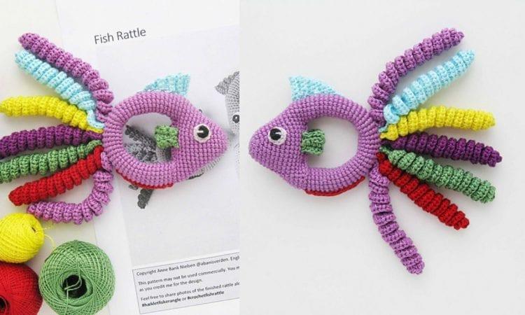 Fish Baby Rattle Free Crochet Pattern