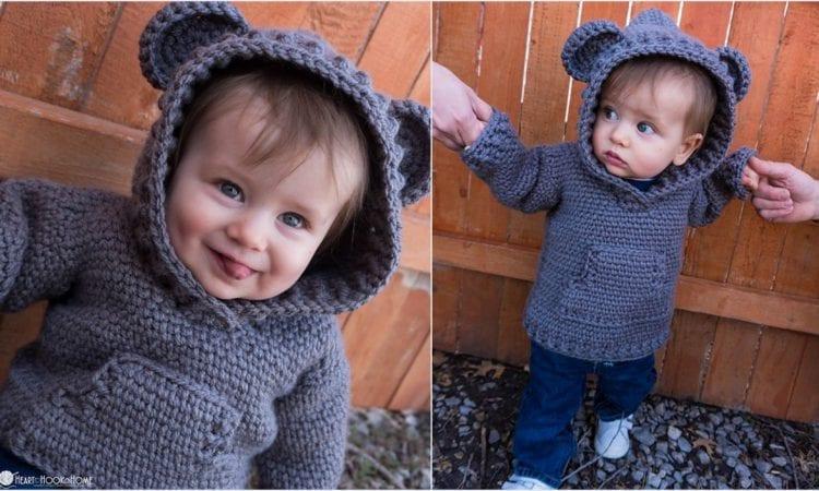 Child Hoodie Free Crochet Pattern