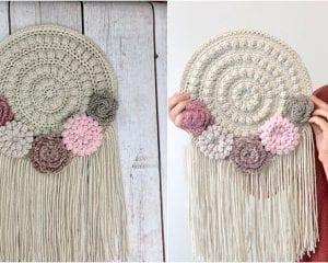 Crafty Boho Wall Hanger Free Crochet Pattern