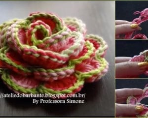 How to Crochet Rose Flower Free Tutorial