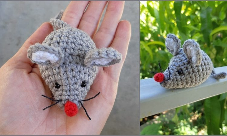 Gray Mouse Toy Free Crochet Pattern