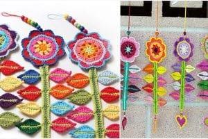 Happy Flower Decoration Free Crochet Pattern