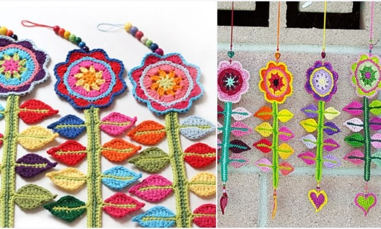 Happy Flower Decoration Free Crochet Pattern