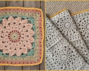 Kata Floral Square Free Crochet Pattern
