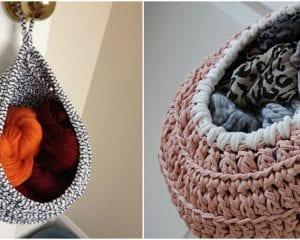Large Hanging Basket Free Crochet Pattern