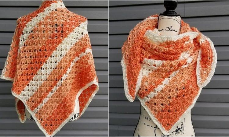 Melon Ball Shawl Free Crochet Pattern