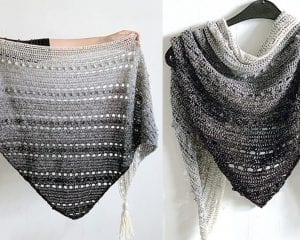 Pop Up Shawl Free Crochet Pattern