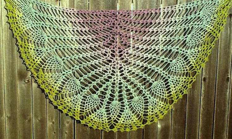 I Promise You Pineapples Shawl Free Crochet Pattern