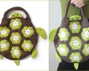 Sea Turtle Tote Bag Free Crochet Pattern