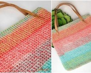 Sherbet Stripes Tote Free Crochet Pattern