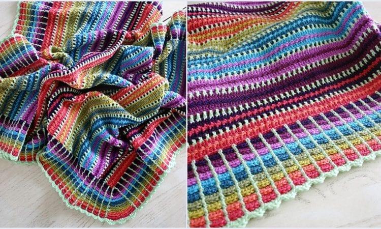 Skittles Blanket Free Crochet Pattern