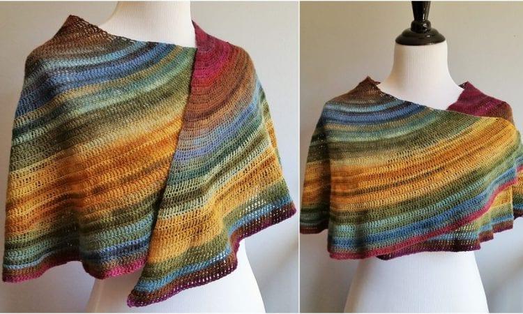 Spill Shawl Free Crochet Pattern