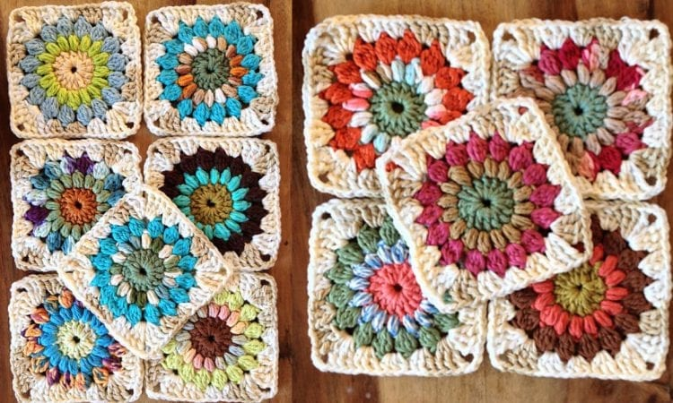 Sunburst Granny Square Free Crochet Pattern