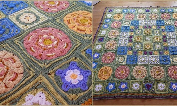 The Secret Garden Blanket Free Crochet Pattern